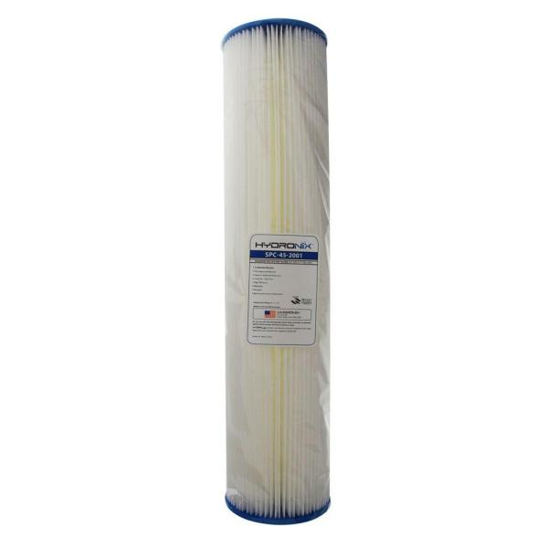 SPC-45-2001 4.5 in. x 20 in. 1 Micron Polyester Pleated Filter