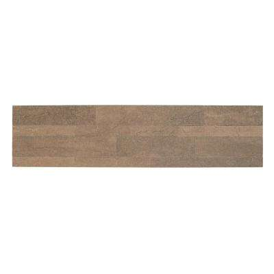 Bolder Stone Mocha 6 in. W x 24 in. L Stone Composite Self Adhesive Wall Tile (6 sq. ft./case)