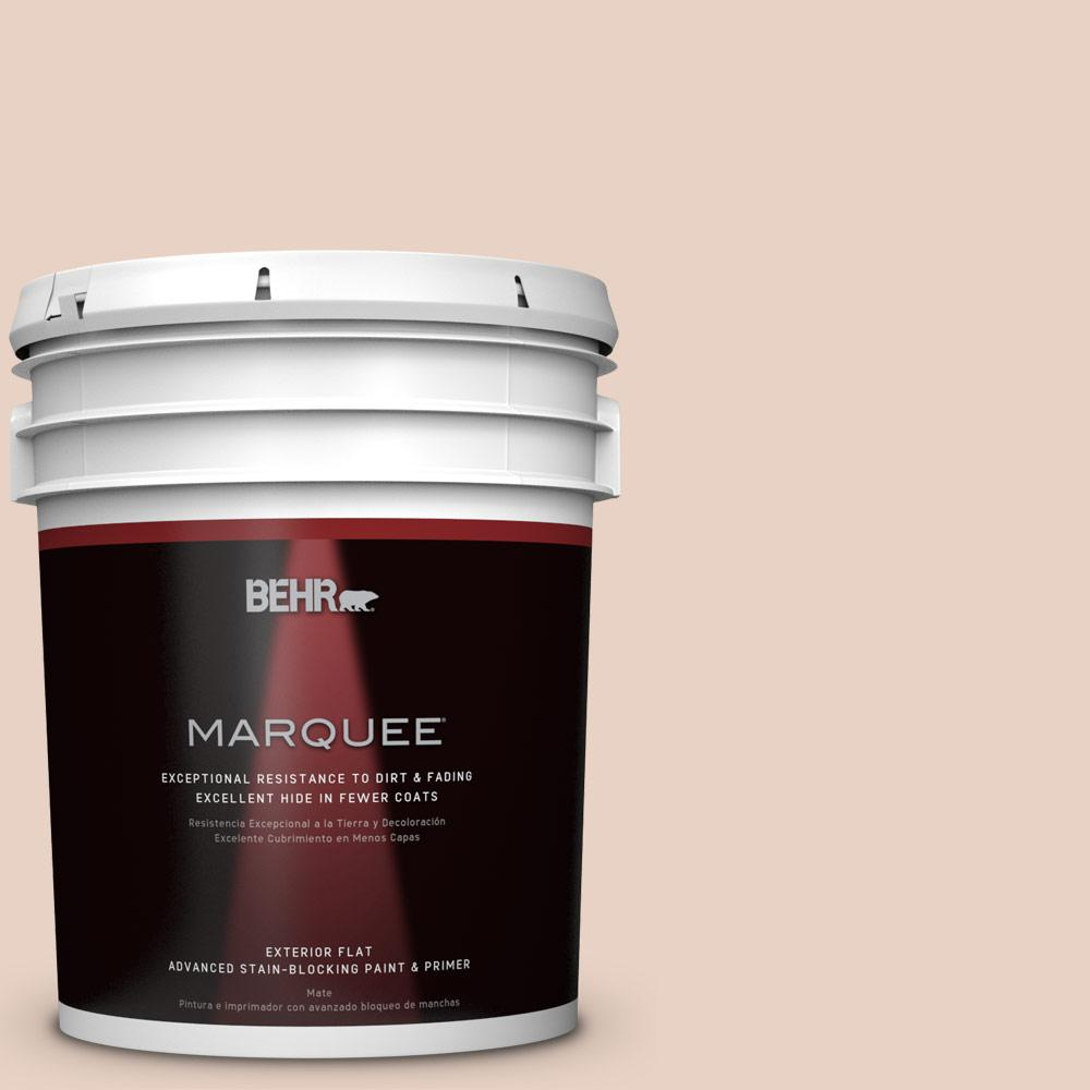 BEHR MARQUEE 5-gal. #S200-1 Conch Shell Flat Exterior Paint