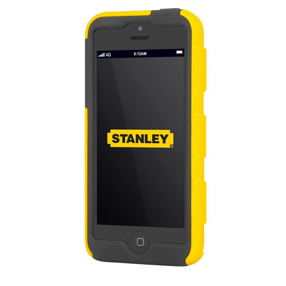 Stanley Foreman iPhone 5 Rugged 2-Piece Smart Phone Case Yellow and Black