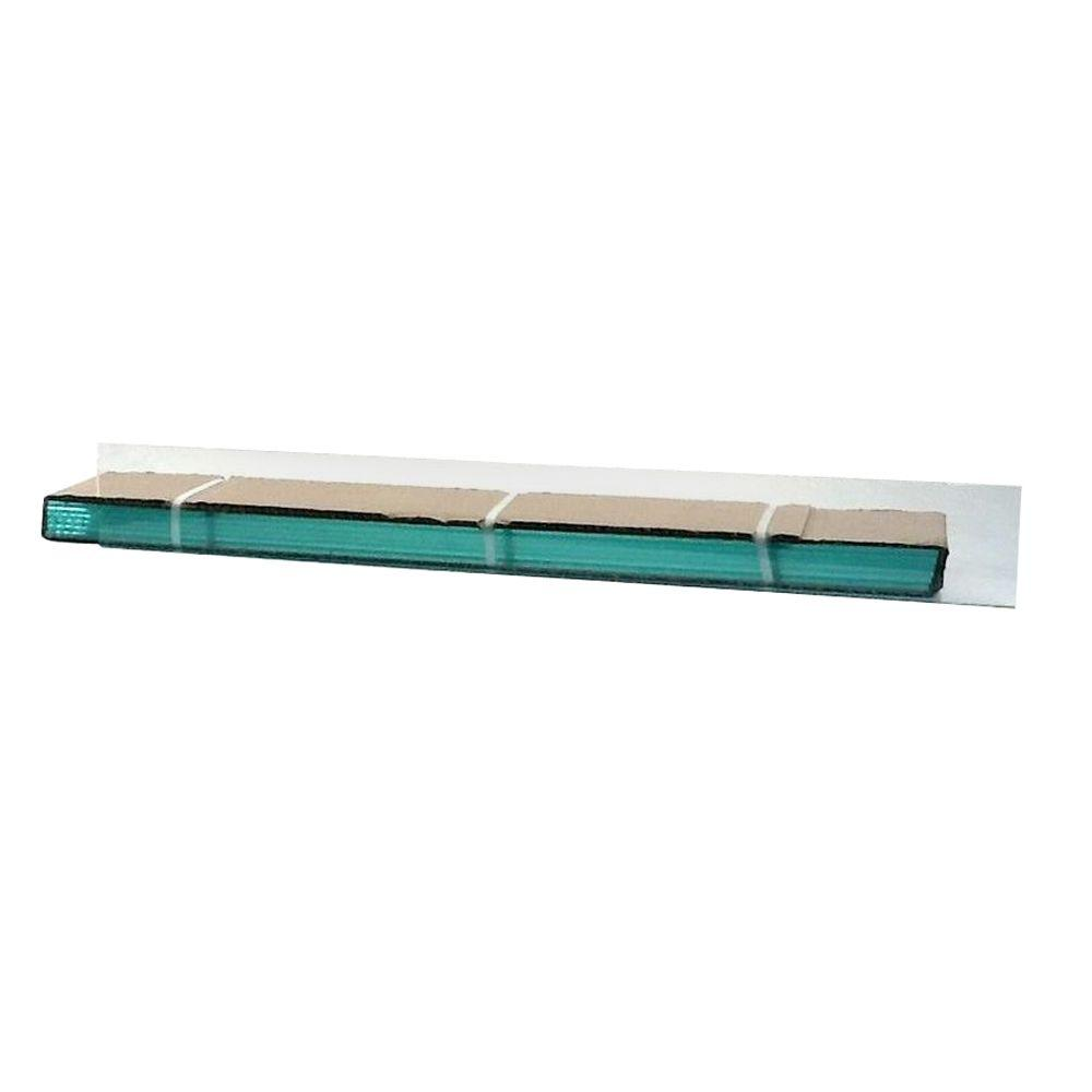 TAFCO WINDOWS 38 in. x 4 in. Jalousie Slats of Glass with Clear Polished Edges 5/CA-DISCONTINUED