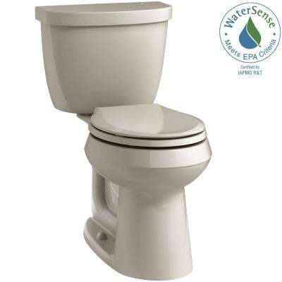 Cimarron Touchless Comfort Height 2-Piece 1.28 GPF Single Flush Round Toilet in Sandbar