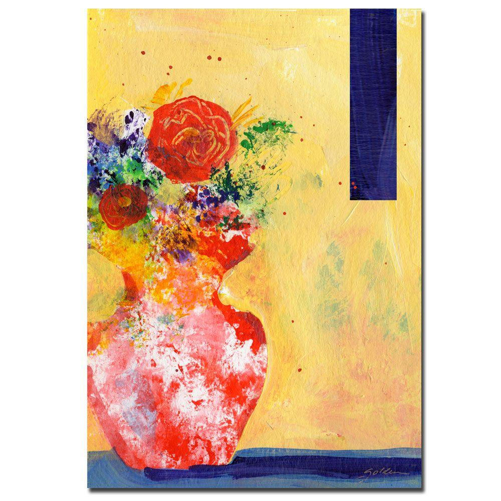 18 in. x 24 in. Red Vase Canvas Art