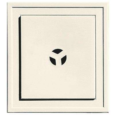 7.9375 in. x 7.9375 in. #034 Parchment Slim Line Universal Mounting Block