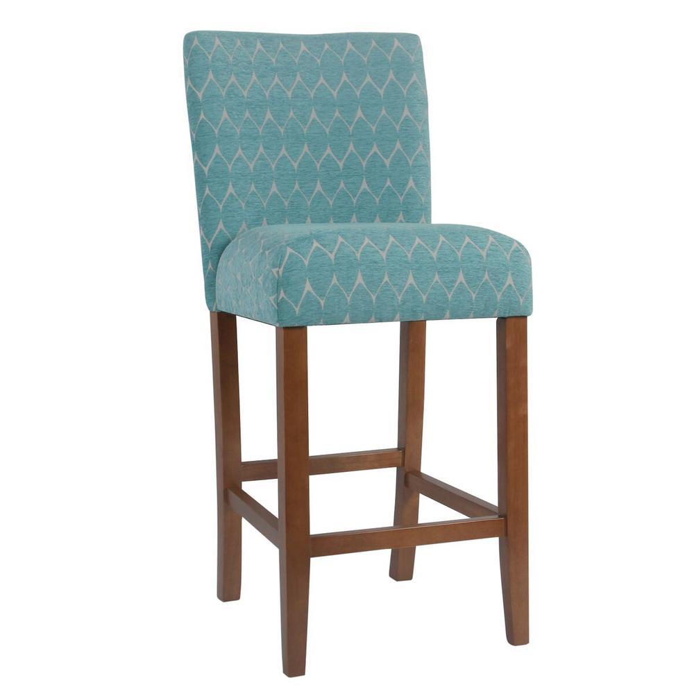 Textured teal bar stool