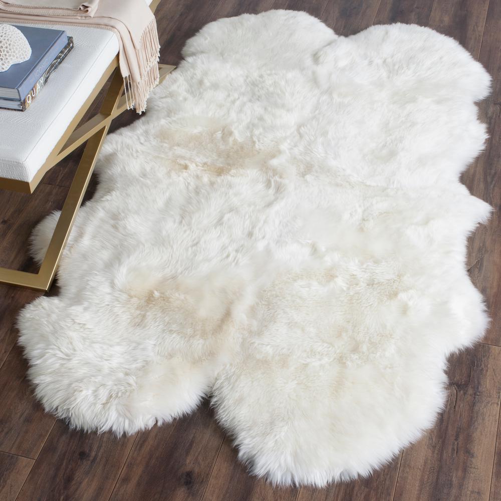 Sheep Skin White 4 ft. x 6 ft. Area Rug