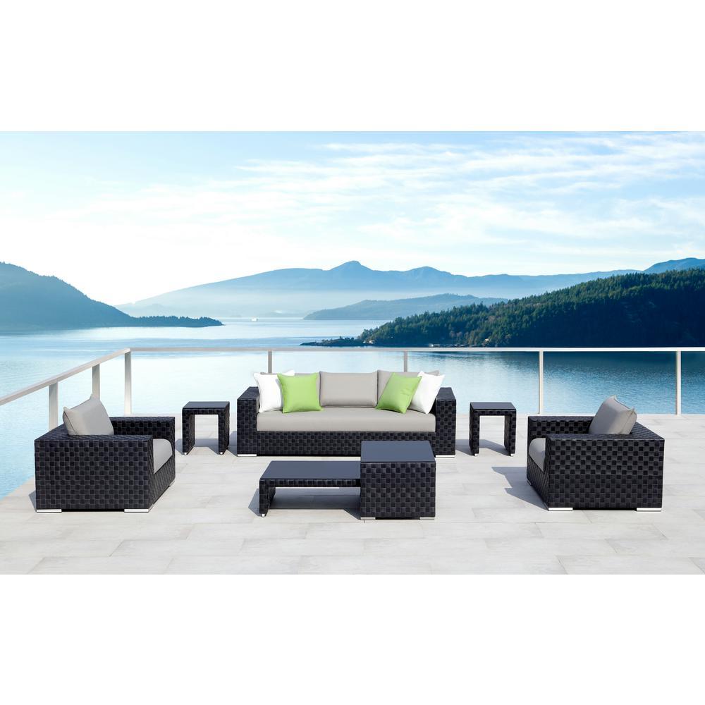 Ove Decors Aluminum Conversation Set Beige Cushions