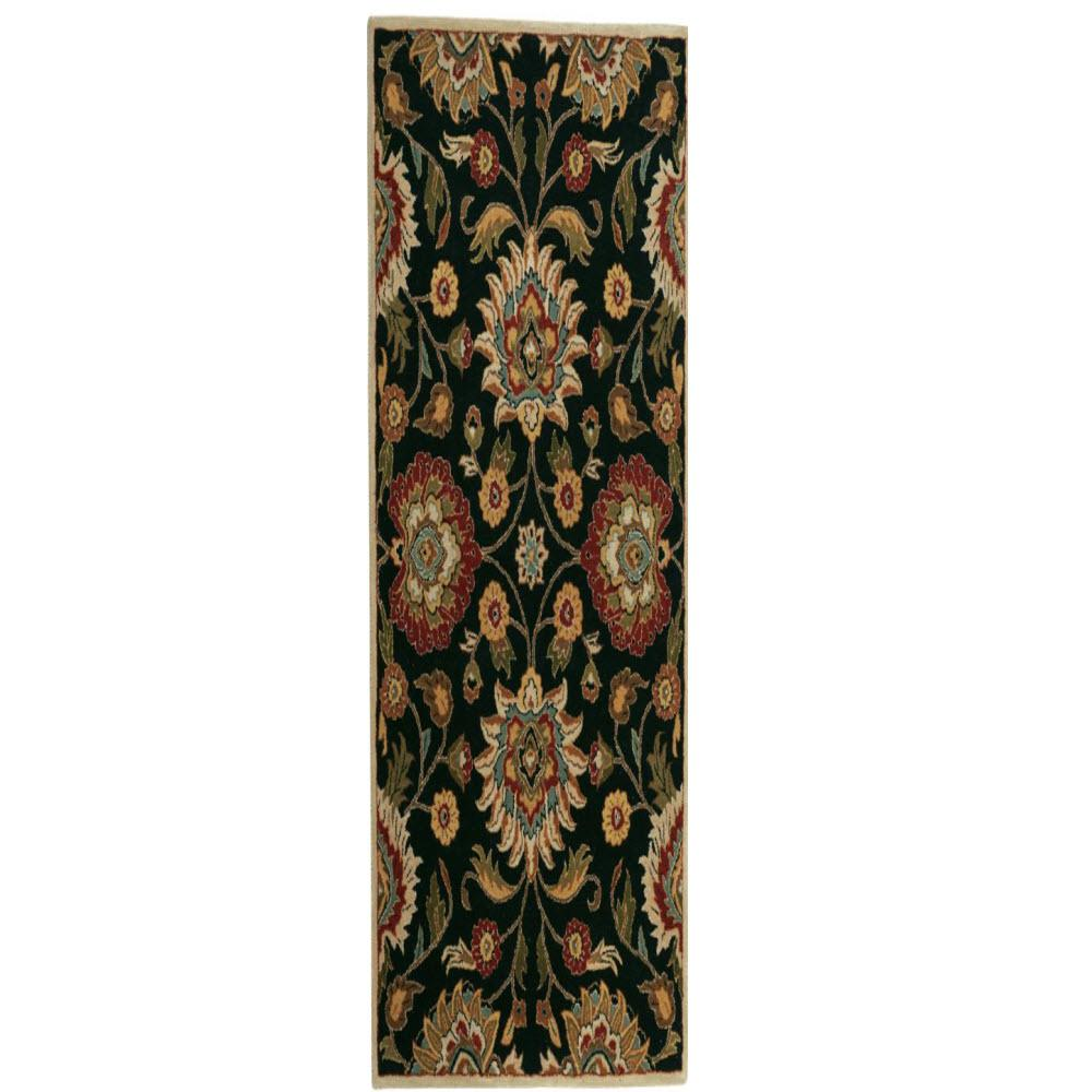 Home decorators collection echelon black 2 ft 6 in x 8 for Home decorators echelon rug
