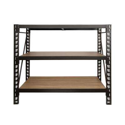 47 in. H x 50 in. W x 18 in. D 3-Shelves Steel / Laminate Expandable Designer Stout Storage Rack System in Bronze