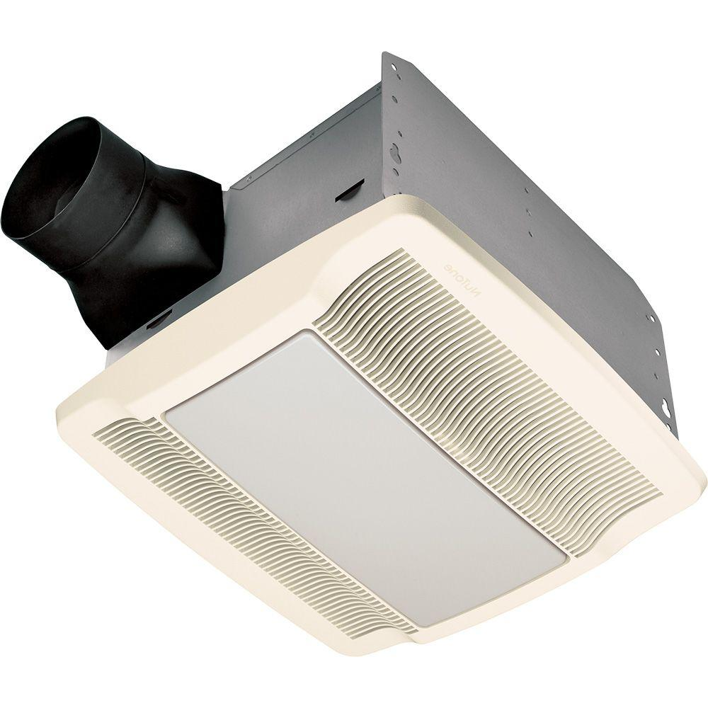 NuTone QT Series Very Quiet 80 CFM Ceiling Exhaust Bath Fan with Light and Night Light