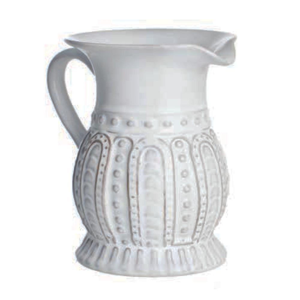 Charlot 32 fl. oz. Lace Design Ceramic Pitcher