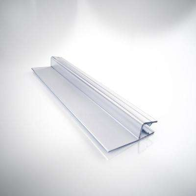 42 in. L Clear Vinyl Seal with a Flexible Fin for 3/8 in. Glass Shower Door