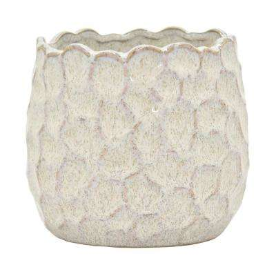 5 in. Ceramic Flower Pot in White