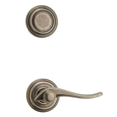 Avalon Dummy Rustic Pewter Right-Handed Door Lever Interior Pack