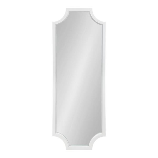 Large Rectangle White Contemporary Mirror (47.75 in. H x 17.75 in. W)