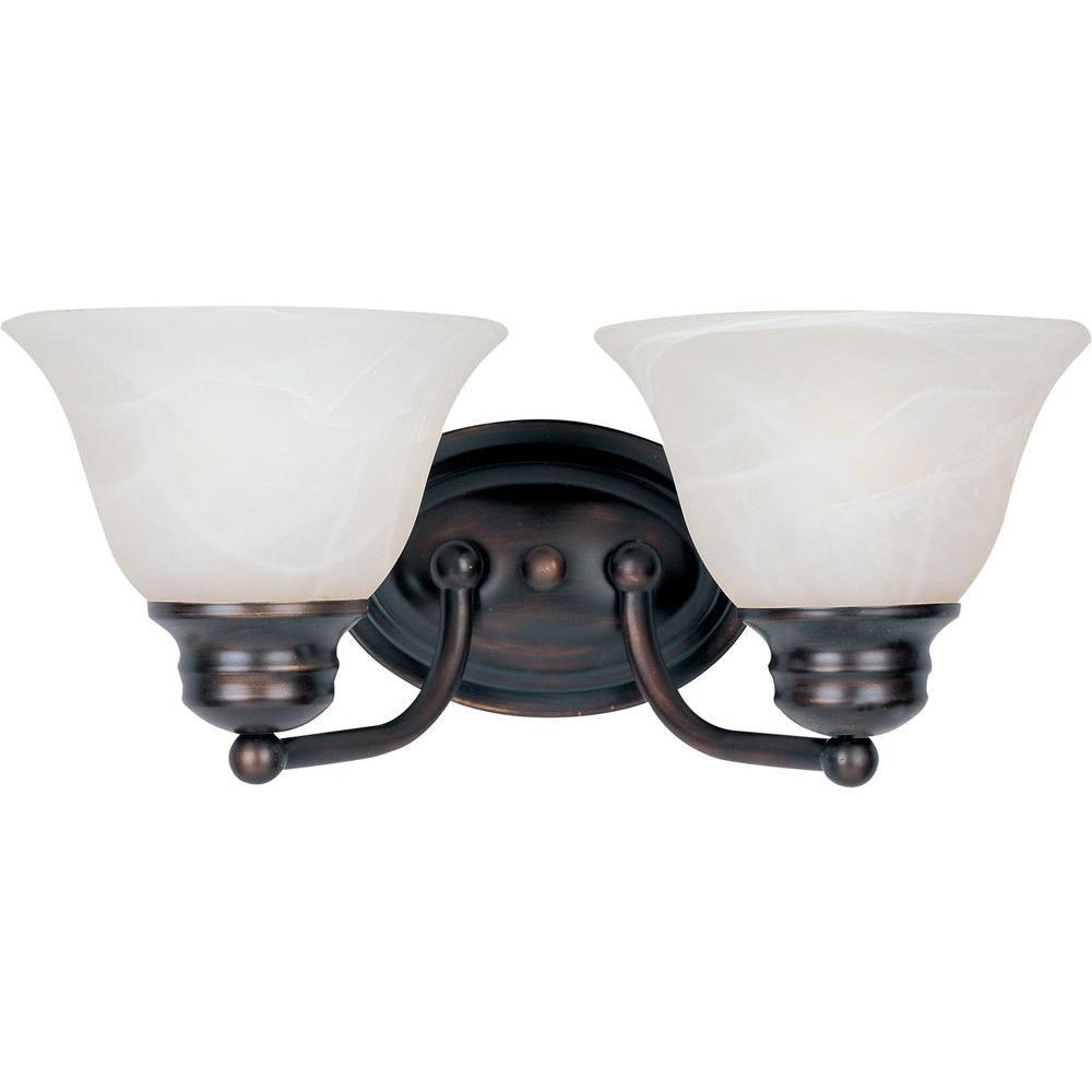 Malaga 2-Light Oil-Rubbed Bronze Bath Vanity Light