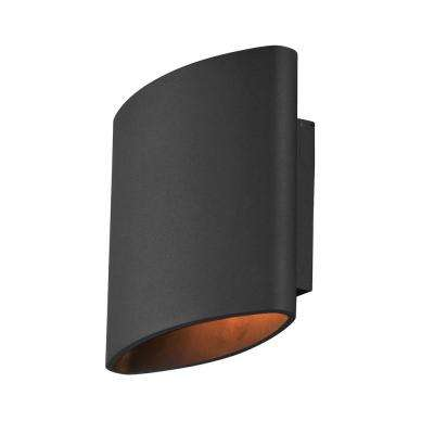 Lightray 2-Light Architectural Bronze Integrated LED Outdoor Wall Lantern Sconce