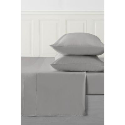 4-Piece Black Pearl Solid 250 Thread Count Bamboo King Sheet Set