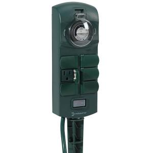 Intermatic 15 Amp Plug-In 6-Outlet Outdoor Stake Timer - Green by Intermatic