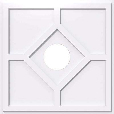 1 in. P X 10-1/2 in. C X 30 in. OD X 7 in. ID Embry Architectural Grade PVC Contemporary Ceiling Medallion