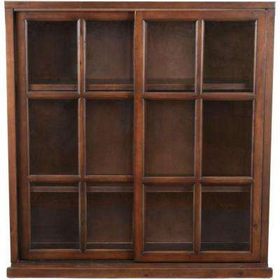 Greg Walnut Glass Door Bookcase