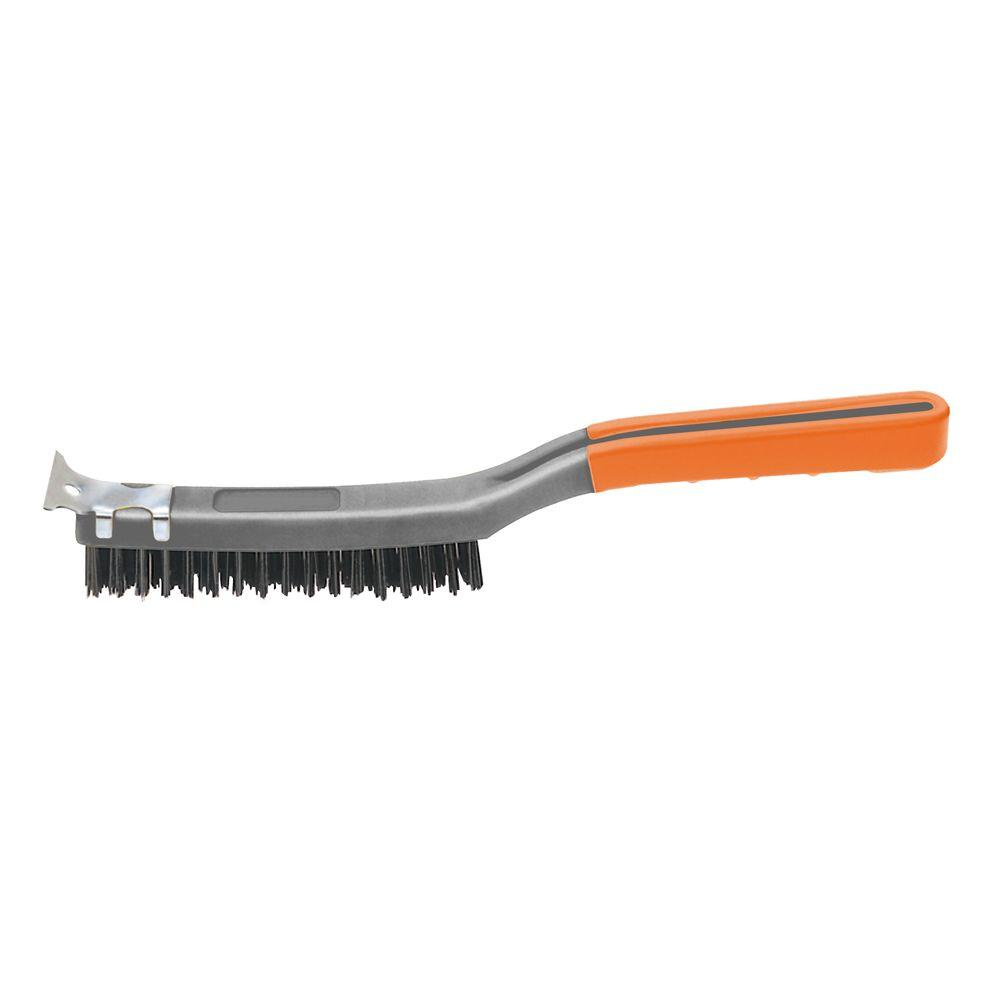 Hdx 3 Row X 19 Row Soft Grip Carbon Wire Brush Sb319 Hdx The Home