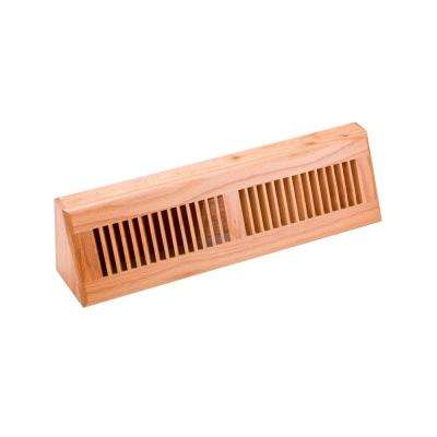 4.5 in. x 18 in. Wood Red Oak Natural Finish Base Board Diffuser