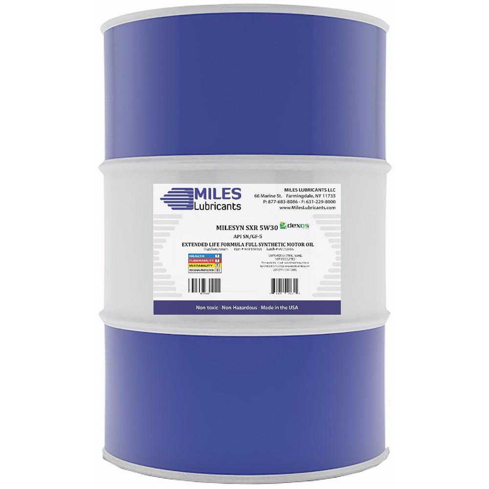 Milesyn SXR 5W30 API GF-5/SN, Dexos1, 55 Gal. Full Synthetic Motor Oil Drum