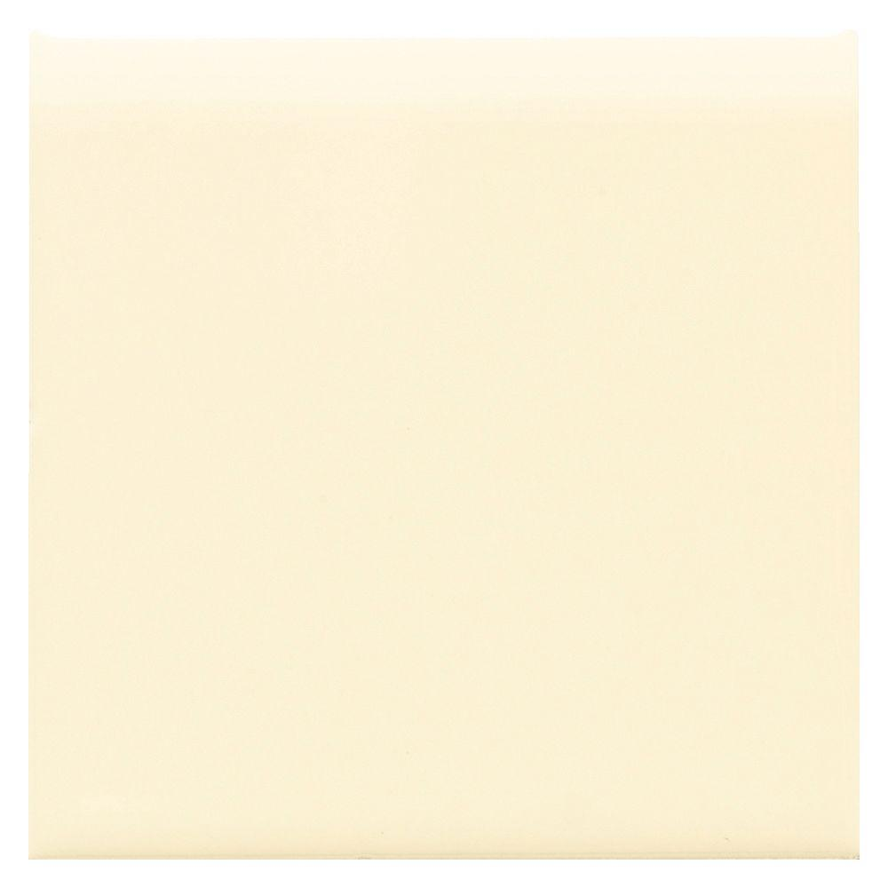 Semi-Gloss Crisp Linen 4-1/4 in. x 4-1/4 in. Ceramic Bullnose Wall