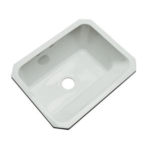 Thermocast Kensington Undermount Acrylic 25 inch Single Bowl Utility Sink in Sterling Silver by Thermocast