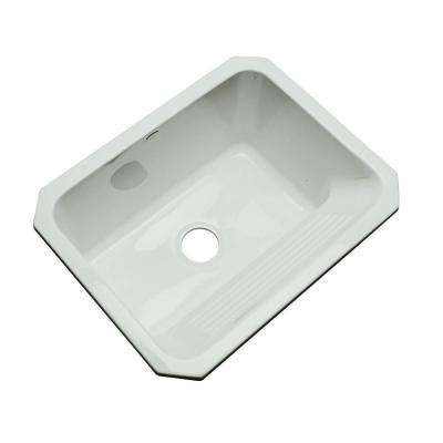 Kensington Undermount Acrylic 25 in. Single Bowl Utility Sink in Sterling Silver