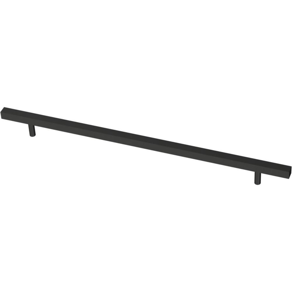 Square Bar 12 in. (305 mm) Matte Black Cabinet Pull