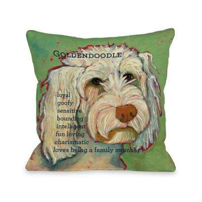 Golden Doodle 1 16 in. x 16 in. Decorative Pillow