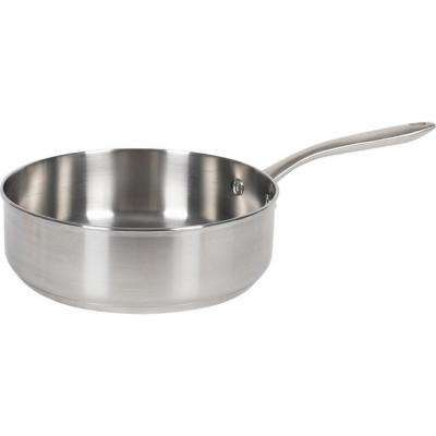 3 Qt. Stainless Steel Induction Compatible Saute Pan
