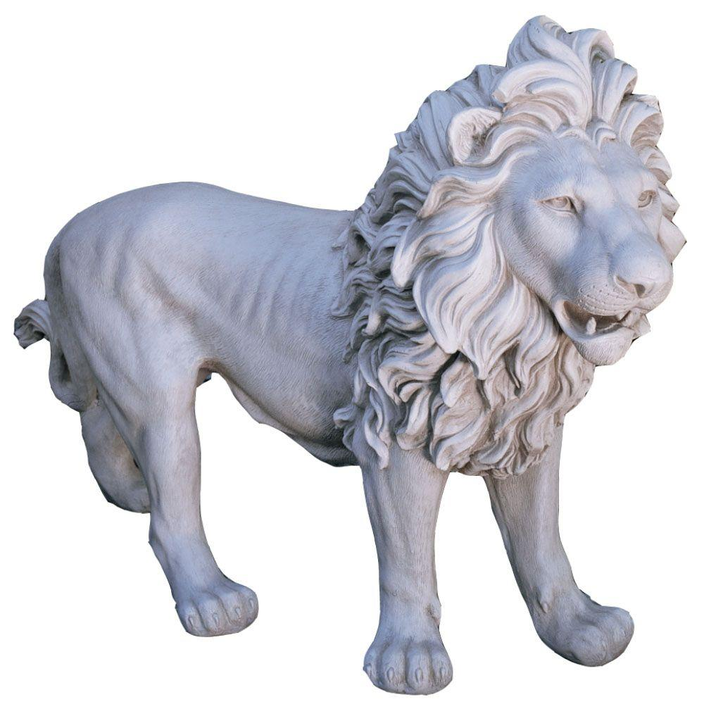 Design Toscano 25-1/2 in. Regal Lion of Grimshaw Manor Statue-DISCONTINUED