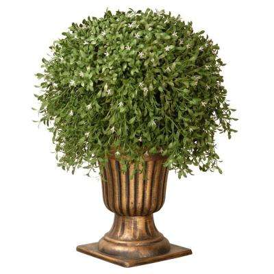 26 in. Argentea Plant with Gold Urn