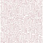 Ramble Pink Geometric Paper Strippable Roll (Covers 56.4 sq. ft.)