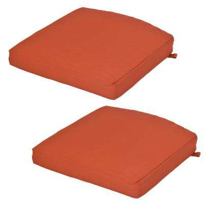 Quarry Red Outdoor Seat Cushion (2-Pack)