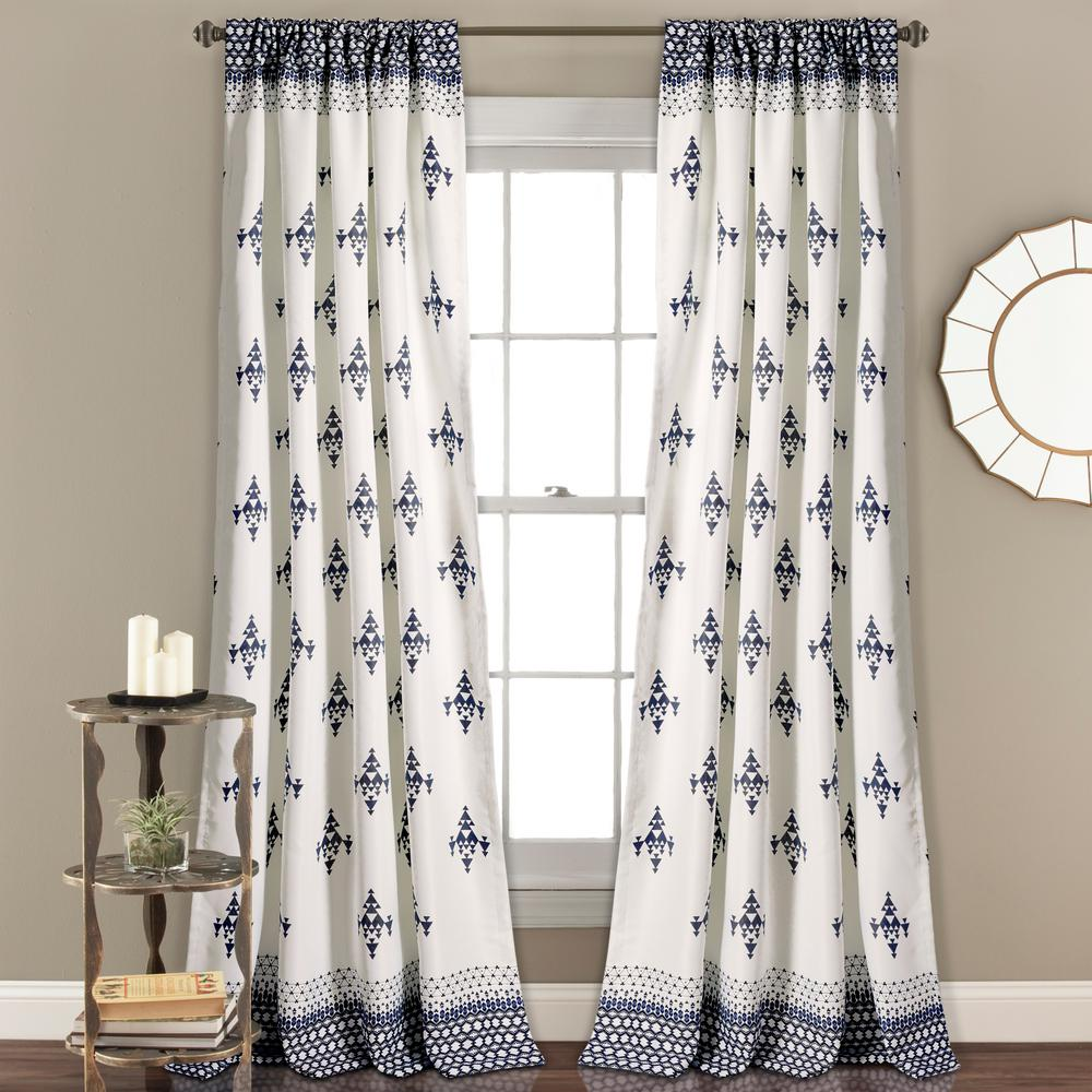 navy curtain drapes and curtains top blue white grommet