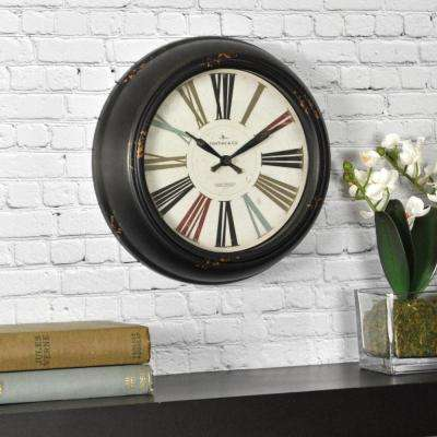 10 in. Round Black Relic Wall Clock