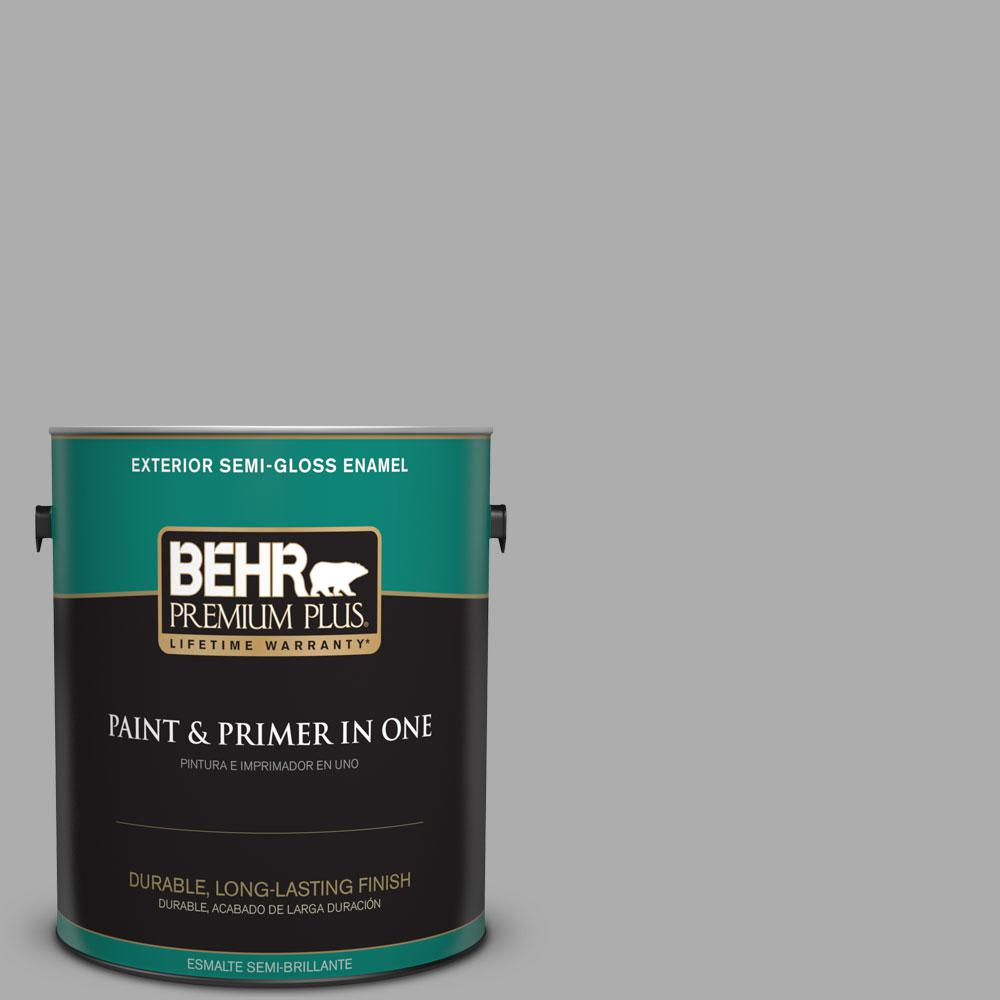 1-gal. #N520-3 Flannel Gray Semi-Gloss Enamel Exterior Paint