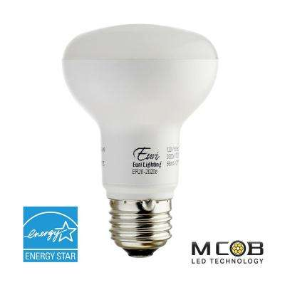 50W Equivalent Warm White (2700K) R20 Dimmable MCOB LED Flood Light Bulb