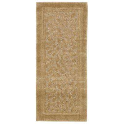 Wellington 24 in. x 60 in. Nylon Bath Runner in Deep Sand