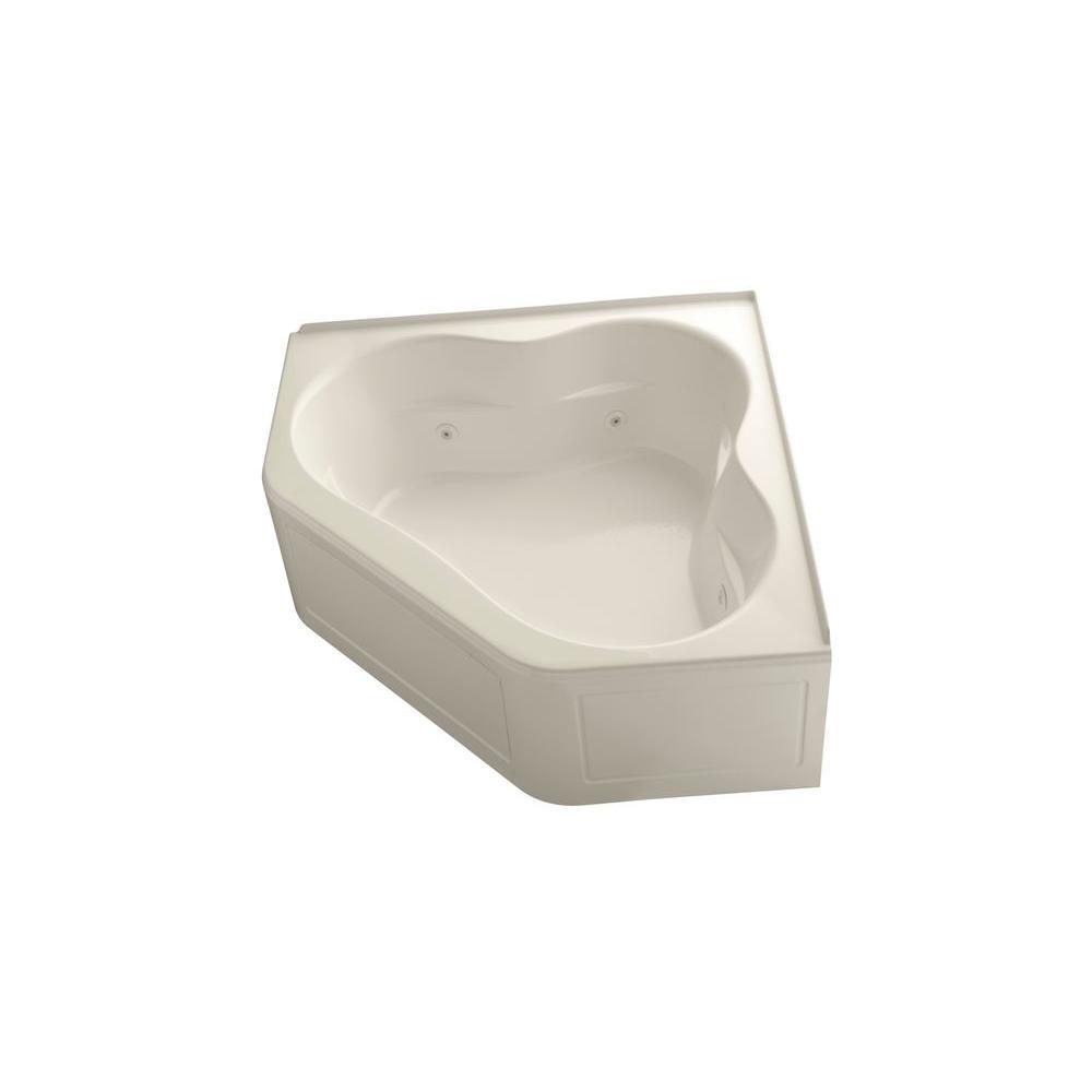 KOHLER Tercet 5 ft. Whirlpool Bath Tub in Almond