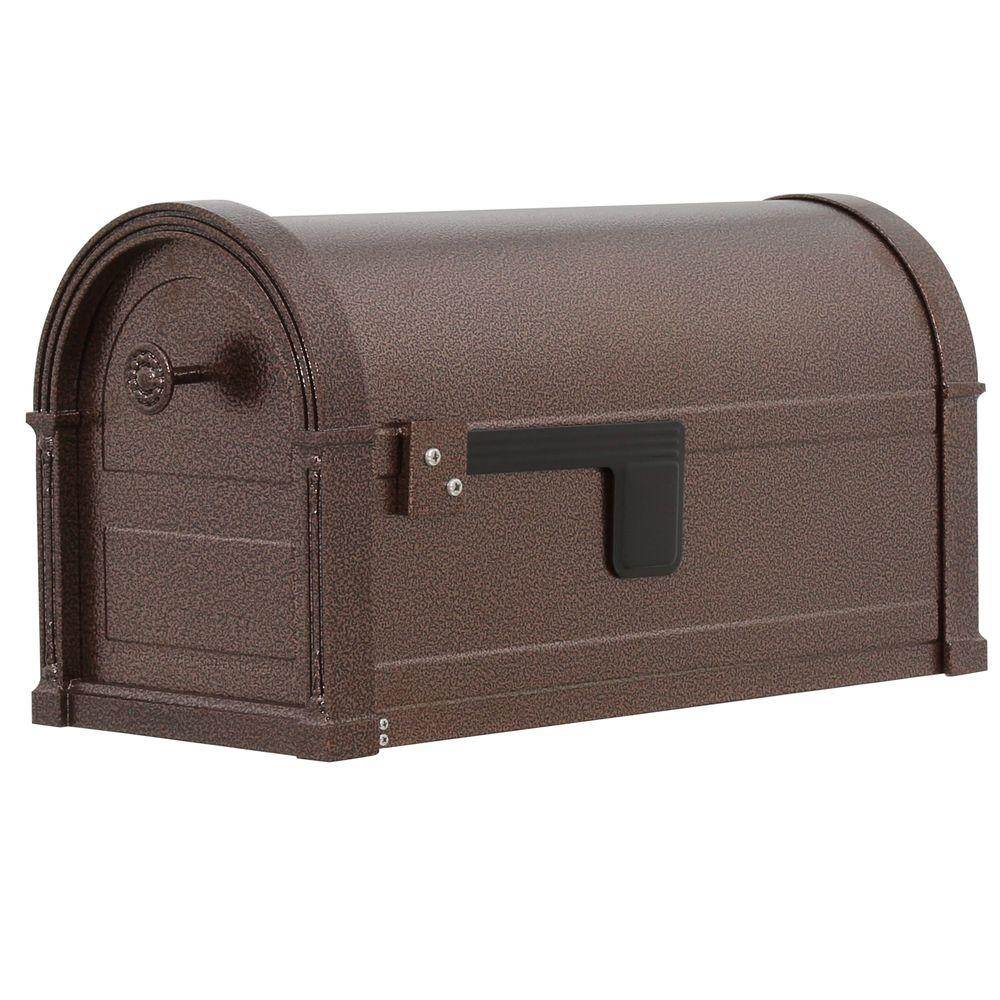 High Grove Copper Vein Steel Post-Mount Mailbox
