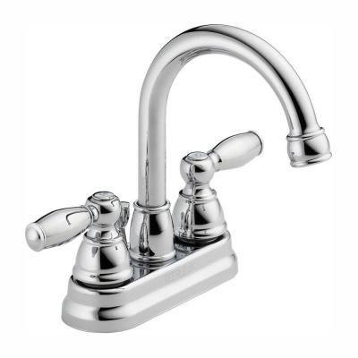 Claymore 4 in. Centerset 2-Handle High Arc Bathroom Faucet in Chrome