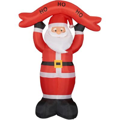 10 ft. Santa Claus with HO HO HO Sign Christmas Inflatable with Lights