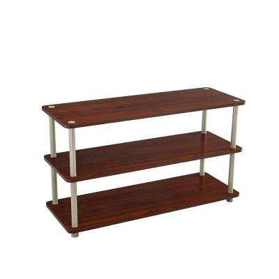 3-Tier Shoe Organizer in Dark Cherry