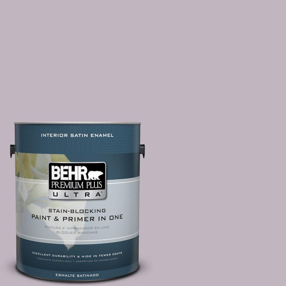 BEHR Premium Plus Ultra 1-Gal. #PPU16-9 Aster Satin Enamel Interior Paint