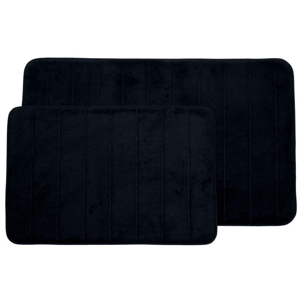 Lavish Home Black 20 25 In X 32 25 In Memory Foam 2